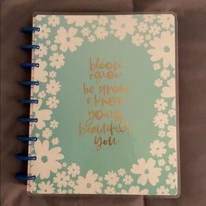 happy planner blue floral